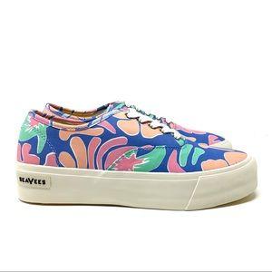 NEW SeaVees Legend Platform Hoffman Flower Shoes 9